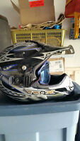 Snowmobile Helmet Large with snap on goggles
