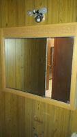 Oak medicine cabinet w/ mirrors