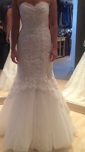 Ivory lace sequence wedding dress