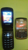 Blackberry Curve 8900, Samsung Ruby2 , 50$ for both!!!!!!!
