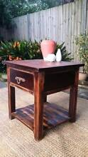 Indian Hardwood Side Coffee Table W Drawer Distressed Rustic Coogee Eastern Suburbs Preview