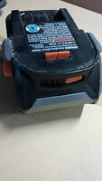 Ridgid 18V Lithium Ion Batteries, Good Used Condition.