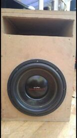 "InPhase Powerdrive 12"" sub in custom box"