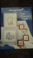 Assortment of Cross stitch pattern books