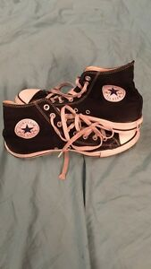 Black coverse all star chuck taylor high tops