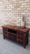 Distressed Timber TV Entertainment Unit Cabinet Oriental Style Coogee Eastern Suburbs Preview