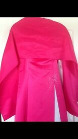 Stunning fuschia bright pink prom dress