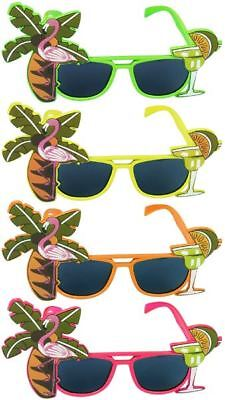 FLAMINGO COCKTAIL HAWAIIAN NOVELTY SUNGLASSES FANCY DRESS TROPICAL BEACH GLASSES ()