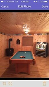 Avail this wknd! Cottage rental with trail access + games room