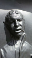 LIFE SIZED HAN SOLO FROZEN IN CARBONITE DISPLAY STAR WARS
