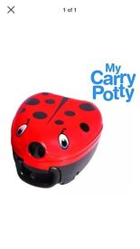 My carry potty travel portable potty ladybird new design