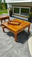 Wood Coffee & End Table