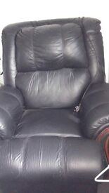 Genuine real leather electric recliner chair