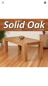 Solid Oak Dining Table 200 cm