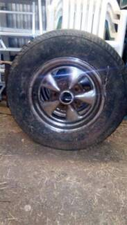 "Holden SS style rims with good tyres, also fit commodore 14"" x 7"""
