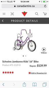 "Schwinn Kids Jamboree 16"" Bike"
