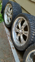 """24"""" MOTTO chevy / GMC Mags with Cooper tires 305/35R24"""