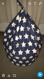 Large bean bag blue stars