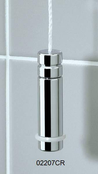 Valsan bathroom blind fan light pull cord pendant brass for Bathroom light pull