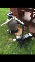 Pool pump with filter