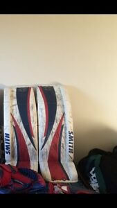 34 + 2 Smith Pro Stock Goalie pads + Gloves  WHAT A DEAL!!