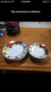 Christmas desert plates