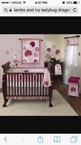 Lambs and ivy crib set