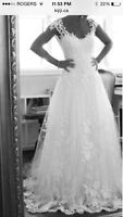 Custom Made Cap Sleeve Wedding Gown REDUCED: $250 fits sz18