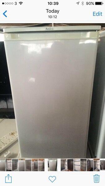White amica undercounter refrigerators good condition with guarantee bargain