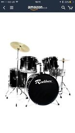 7 piece drum set - full size with sound pads
