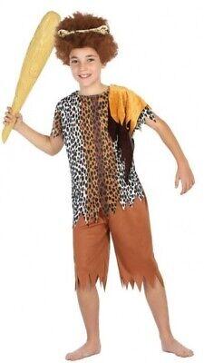Jungen Mädchen Höhlenmensch Höhlenmädchen Prähistorisch Karneval Kostüm - Junge Höhlenmensch Kostüm