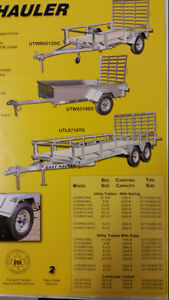 2016 Easyhauler Galvanived utility trailers