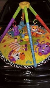 Zoo theme tiny time mat and frame