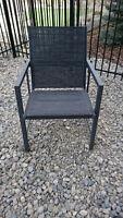 6 stackable garden steel/aluminum arm chairs