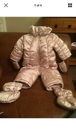 Chicco baby girls snow suit age 6 months