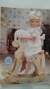 NEW AMY DOLL WITH ROCKING HORSE HAMILTON COLLECTION NEW IN BOX