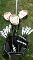 Used golf bag/caddy and set of clubs