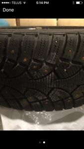 Winter tires studded (with rims)