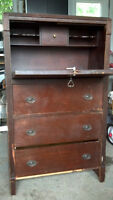Antique wooden dresser (cost = a donation)