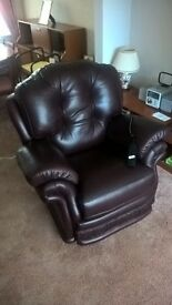 Leather Recliner Armchair