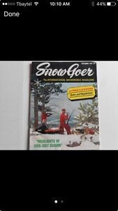 Looking for vintage snow goer snowmobile magazines