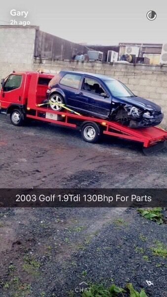 Breaking for parts only Gt Tdi Golf 130bhp 6 Speed