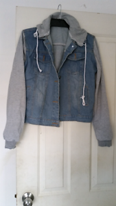 Womens Denim hooded jacket  Brand New  Size 8 10 Berkeley Vale Wyong Area Preview