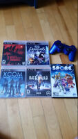 PS3 games, controller and headset
