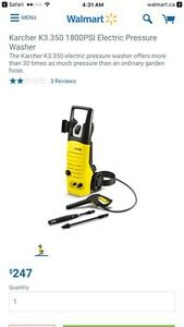 Karcher Pressure Washer   Kitchener / Waterloo Kitchener Area image 1