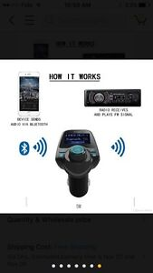 FM Transmitter, Bluetooth Car Kits with Music Control and TF Car Regina Regina Area image 8