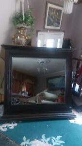 wood mirror  new  still in the box size 48 w x 44