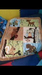 Woodland theme baby blanket set
