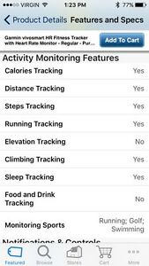 Garmin VIVOSMART HR (Fitness Tracker) Cambridge Kitchener Area image 4