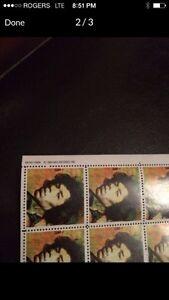 Vintage Jimmy Hendrix Stamps set of 9 London Ontario image 2
